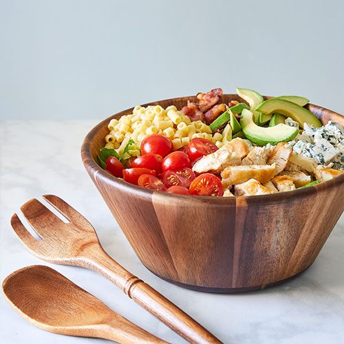 Wood Salad Bowl & Servers Set