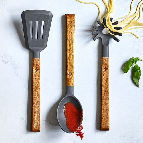 Silicone & Wood Utensil Set