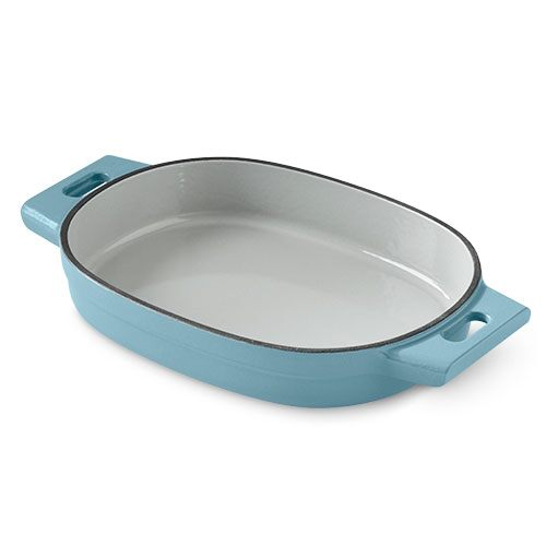 2-qt. (2-L) Enameled Cast Iron Baker, Blue