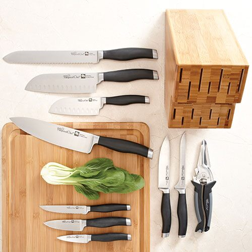 Bamboo Knife Block Set
