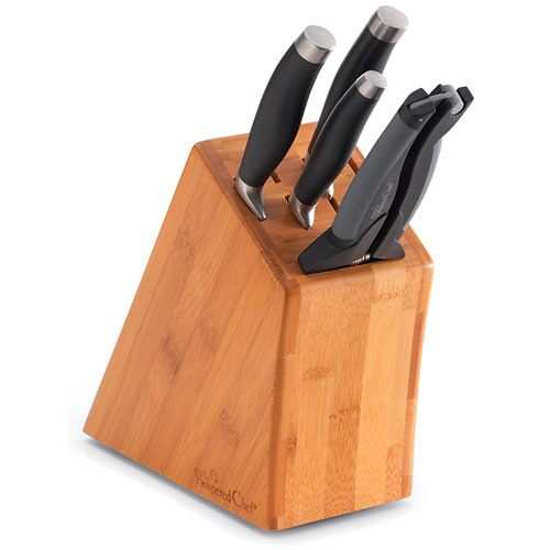 *Small Bamboo Knife Block Set