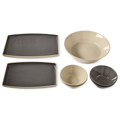 Stoneware Entertaining Set