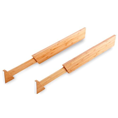 Attractive Bamboo Adjustable Drawer Divider Set