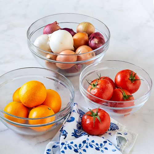 Glass Mixing Bowls (Set of 3)