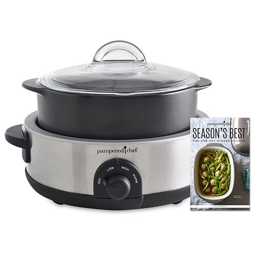 *Rockcrok® 4qt Slow Cooker Set w/Free S.Best