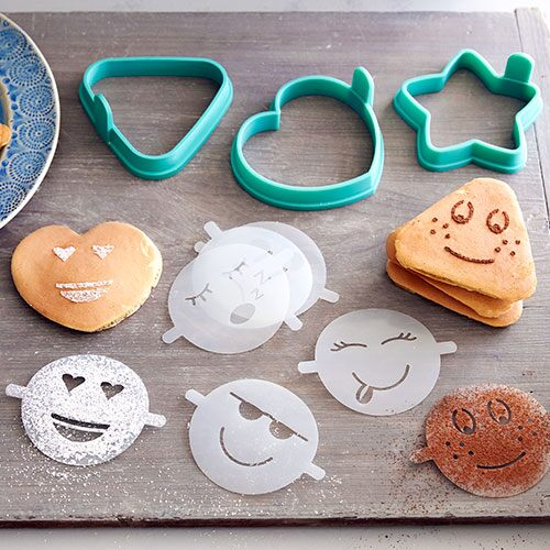 Easy Pancake Molds With Emoji Stencils