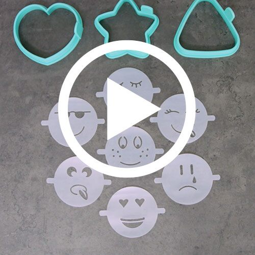 Play Easy Pancake Molds With Emoji Stencils Video
