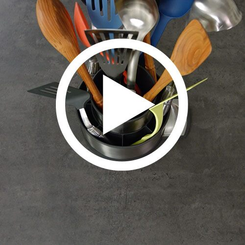 Play Stainless Steel Rotating Utensil Holder Video