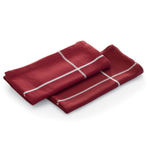 Cranberry Windowpane Napkin Set