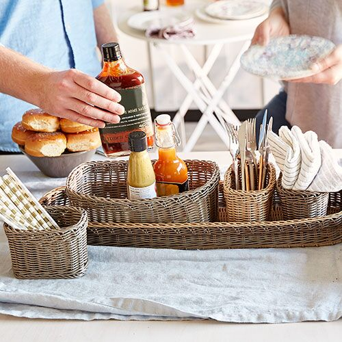 Wicker Serving Caddy