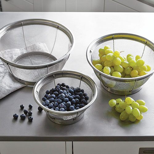 Stainless Steel Mesh Colander Set