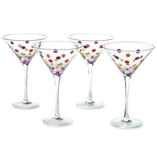 Dots Martini Glass (set of 4)