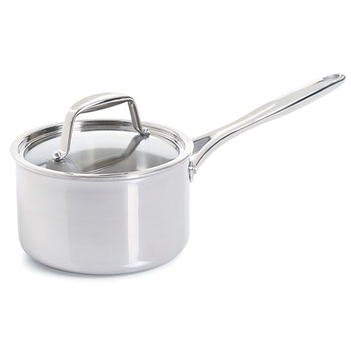 Stainless 3-qt. (2.8-L) Covered Saucepan