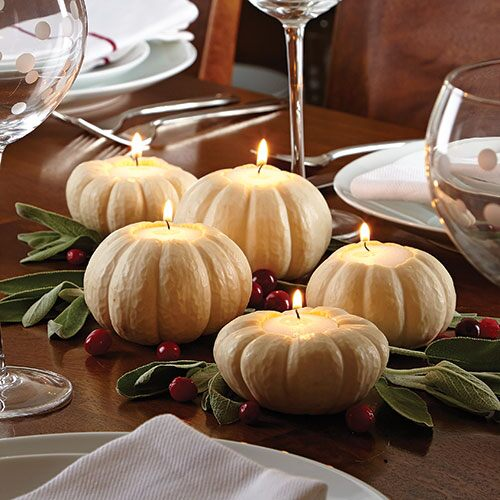 Pumpkin or Apple Candle Centerpiece