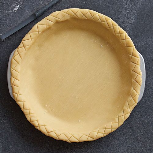 X-Marked Pie Crust