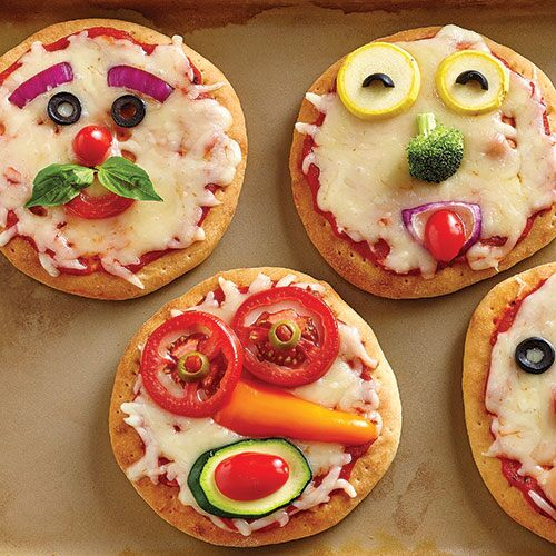 Funny Face Pizza for Kids