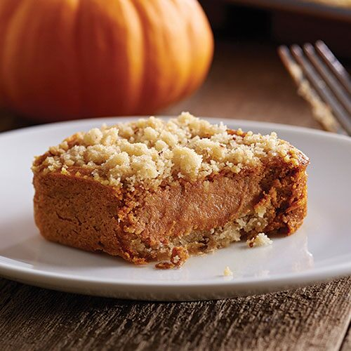 Pumpkin Streusel Cheesecake Squares