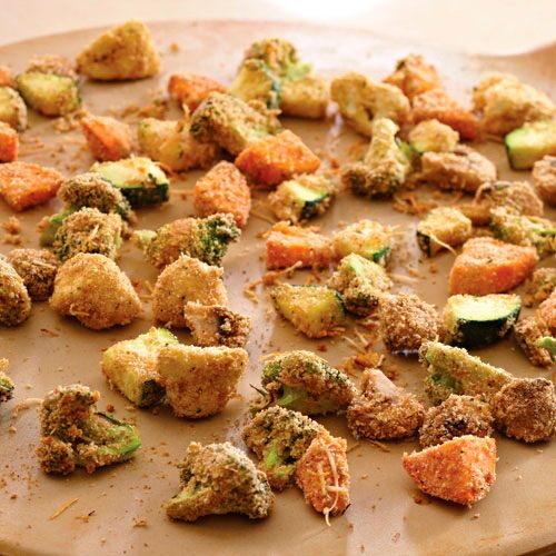 Crispy Oven Fried Vegetables