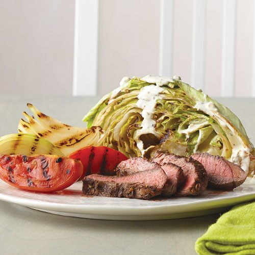 Wedged Iceberg Salad with Grilled Steak