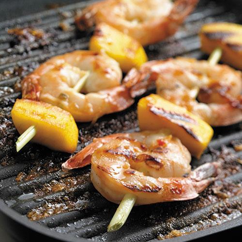 Grilled Shrimp on Lemongrass Skewers