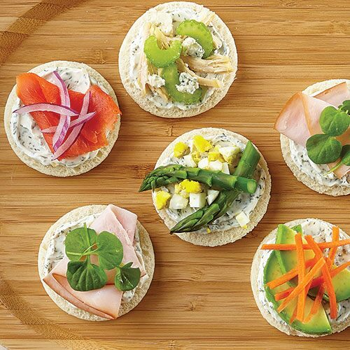 Open-Faced Mini Sandwiches