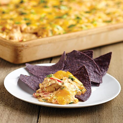 Cheesy Chicken Nacho Dip