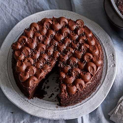 Easy Chocolate Chevron Cake