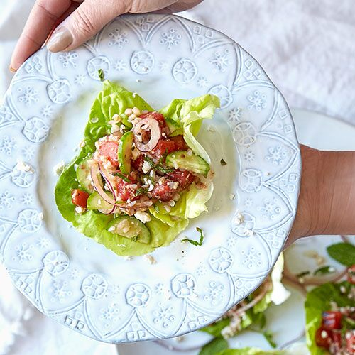 Grilled Watermelon Lettuce Wraps
