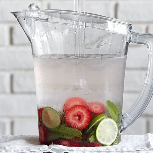 Strawberry-Lime Water