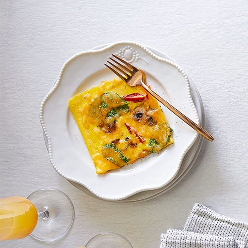 Loaded Vegetable Omelet