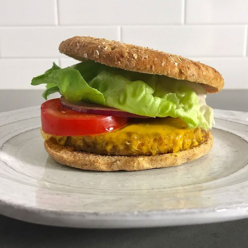 Quick Veggie Burger