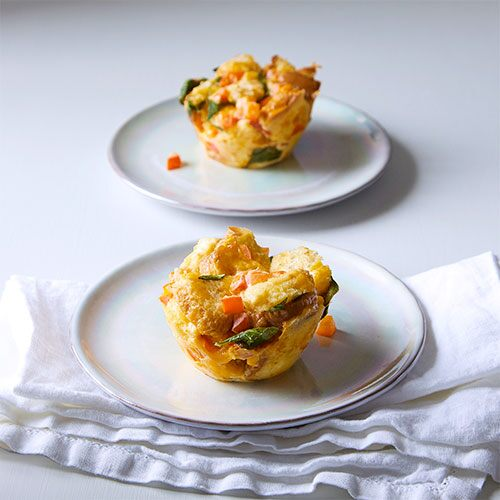 Quick Cooker Spinach & Pepper Breakfast Cups
