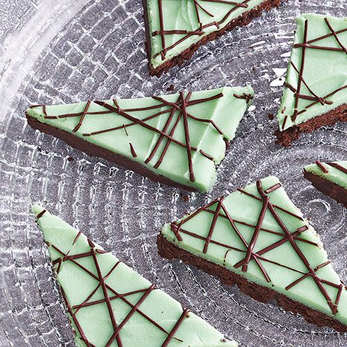 After Dinner Mint Triangles