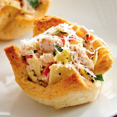 Artichoke Chicken Salad Tarts