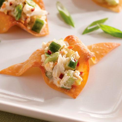 Asian Crab Salad Crisps