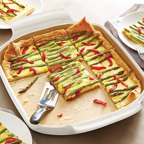 Asparagus & Roasted Red Pepper Tart