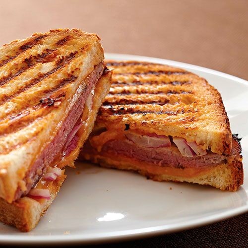 Barbecue Beef Panini Sandwiches
