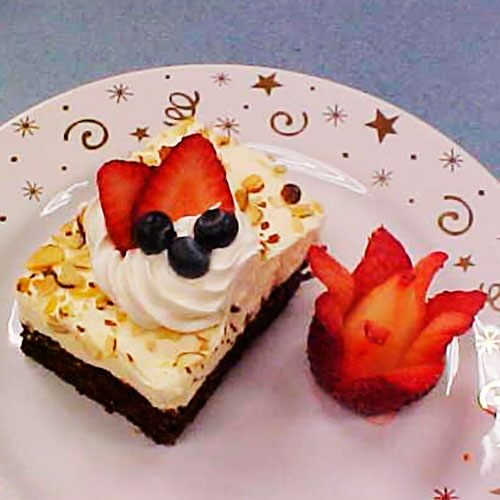 Berries & Cream Brownie Squares