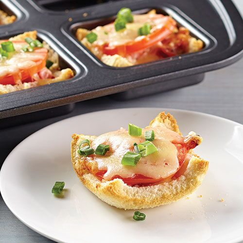Cheesy Bacon and Tomato Cups