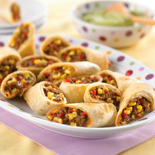 Cheesy Tex-Mex Roll-Ups