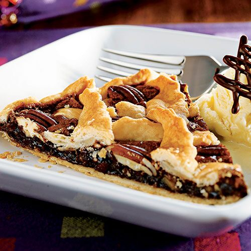Chocolate Pecan Lattice Tart