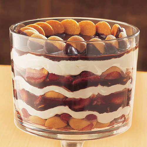 Chocolate-Raspberry Cookie Trifle