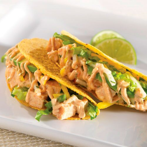 Cool & Crunchy Chicken Tacos