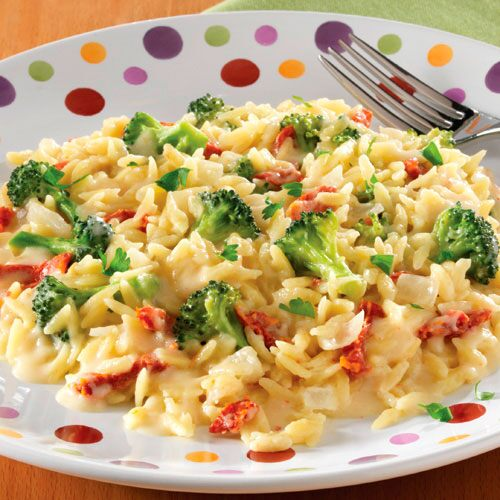 Creamy Broccoli & Sun-Dried Tomato Orzotto