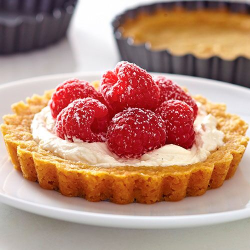 Creamy Lemon-Raspberry Tarts