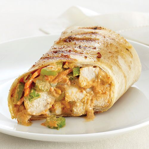 Grilled Buffalo-Style Chicken Wraps