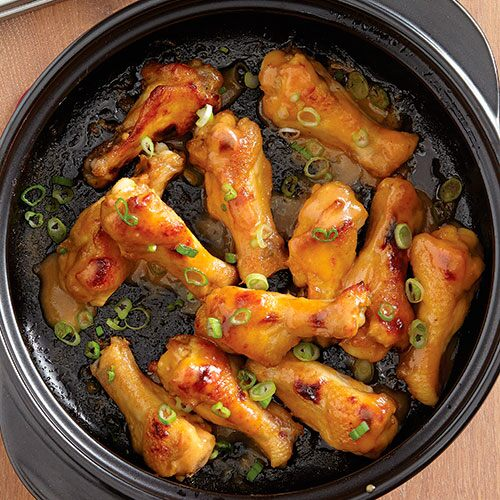 Hot Honey Mustard Chicken Wings