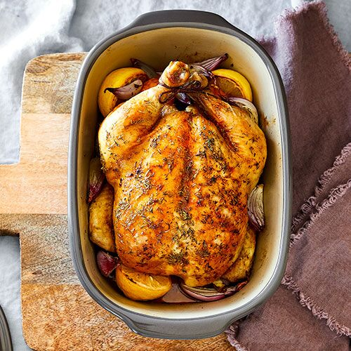 A breast Roasting chicken