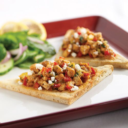 Lemony Moroccan Chicken Pitas