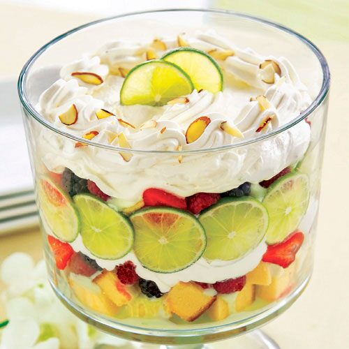 Lime-Berry Mousse Trifle